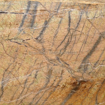 Rain forest gold brown marble