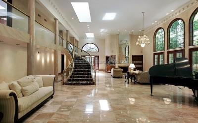 Roman Interiors with italian marble flooring