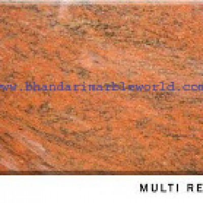 Multi Red Marble