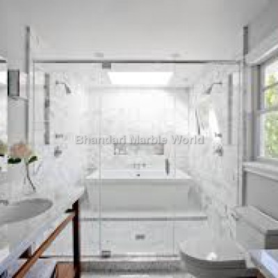Super white bathroom marble