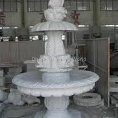 white-marble-fountain