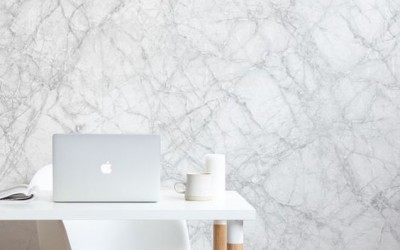 Classic white marble
